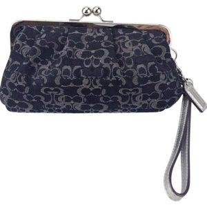 Coach Clutch Optic C Lurex Kisslock Framed